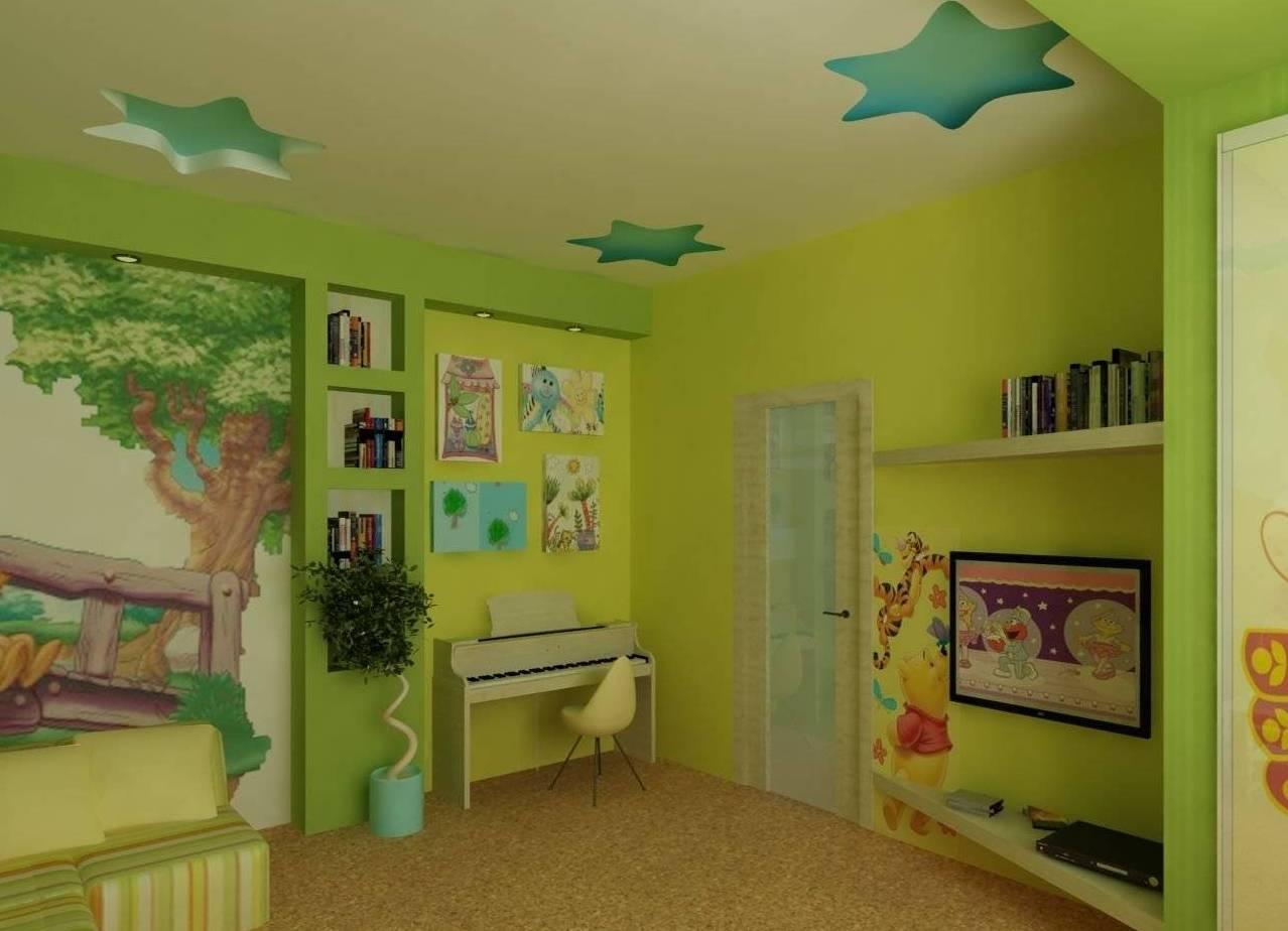 Зонирование детской цветом