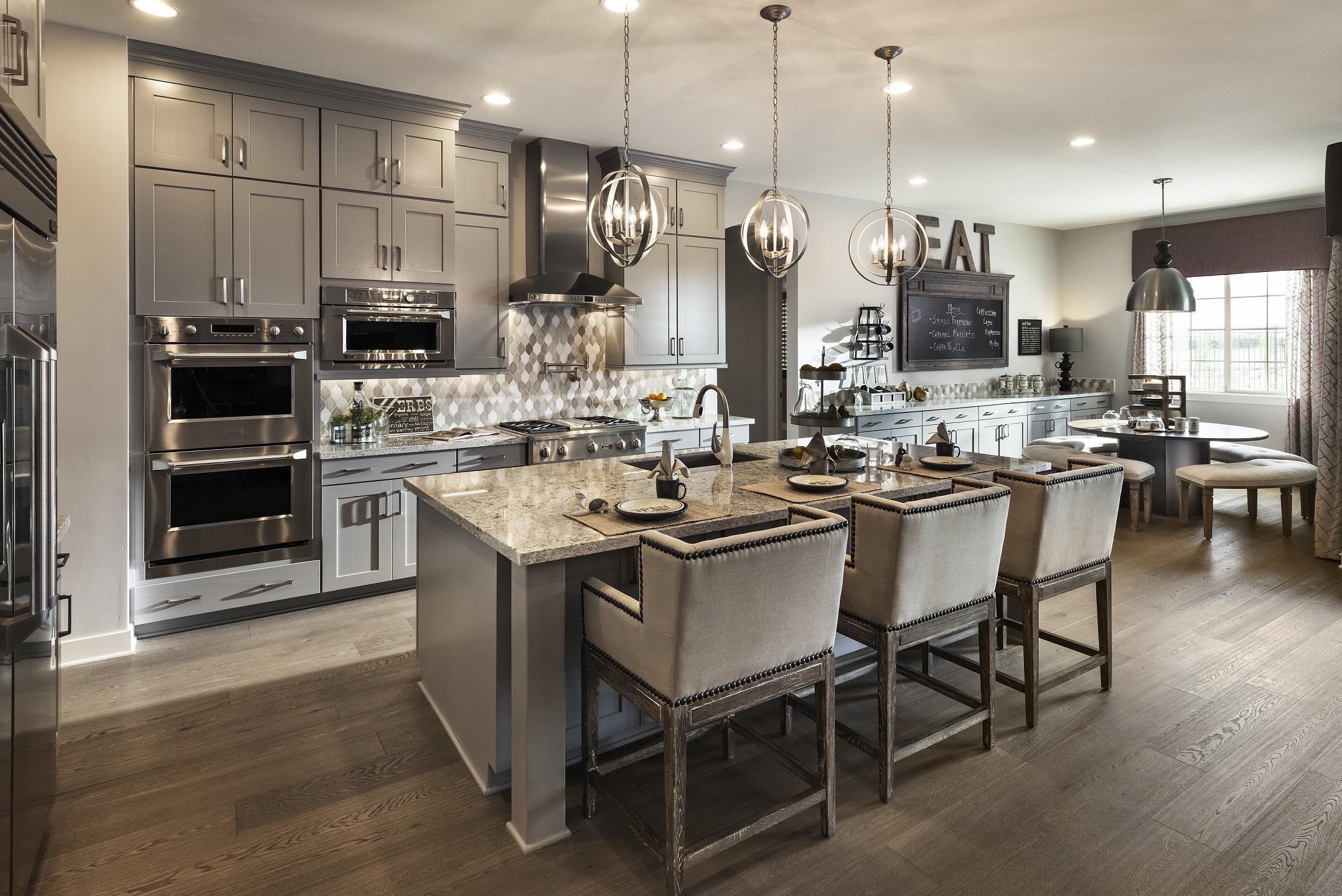 Дизайн кухни серого цвета 2019