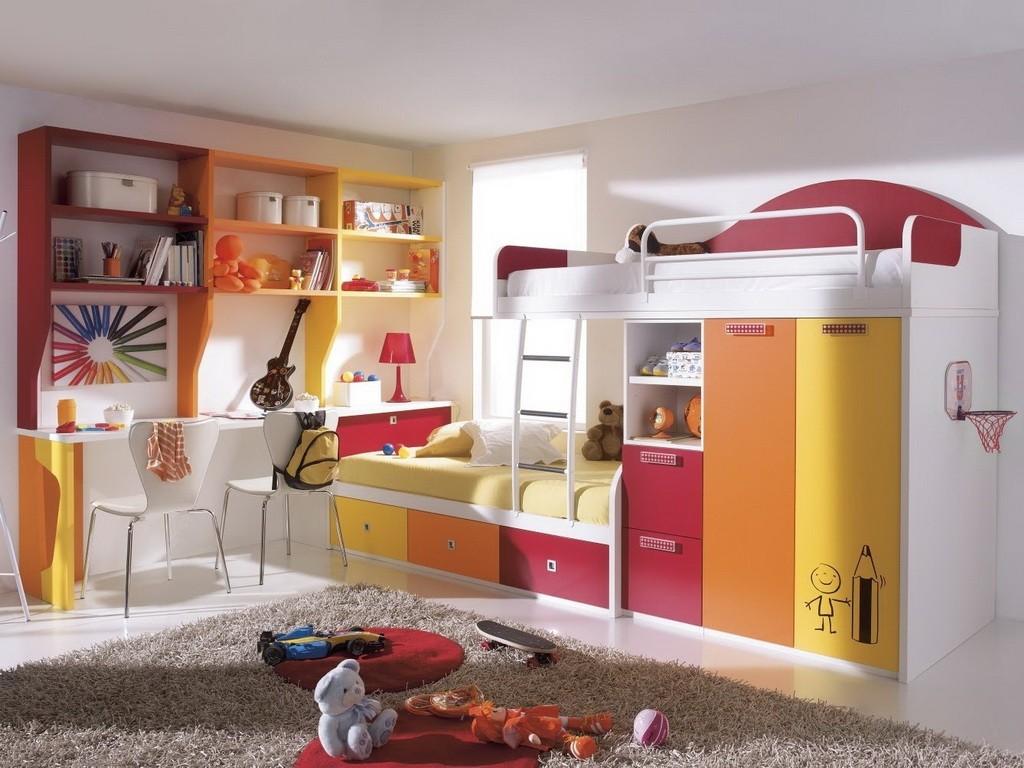 Цветное зонирование детской