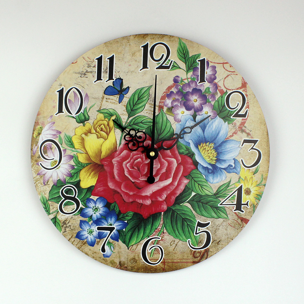 Цветочный декор часов