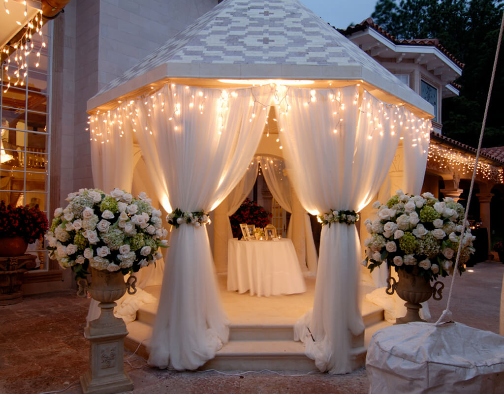 Декоративные шторы для беседки