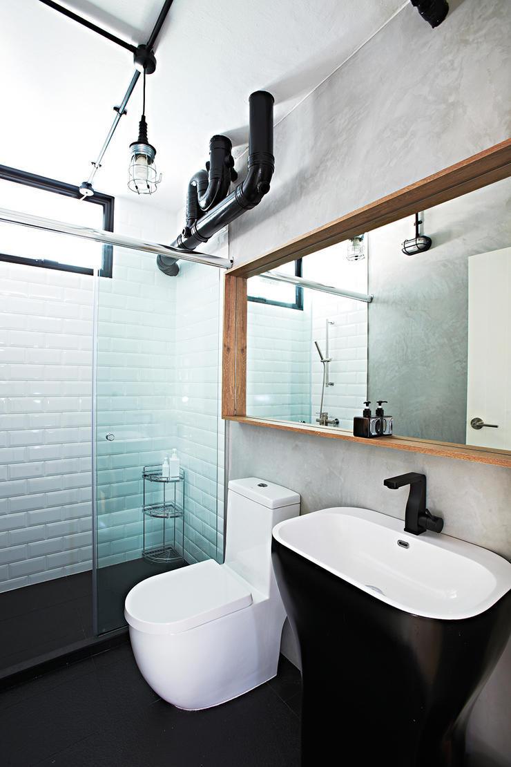 Декоративные трубы в интерьере ванной