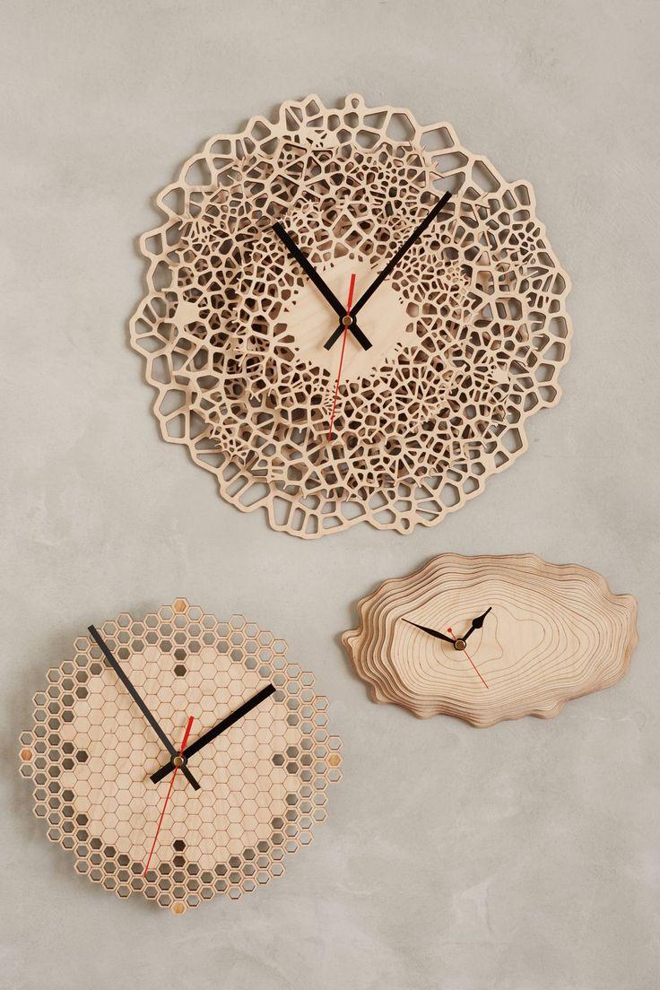 Часы из спила дерева