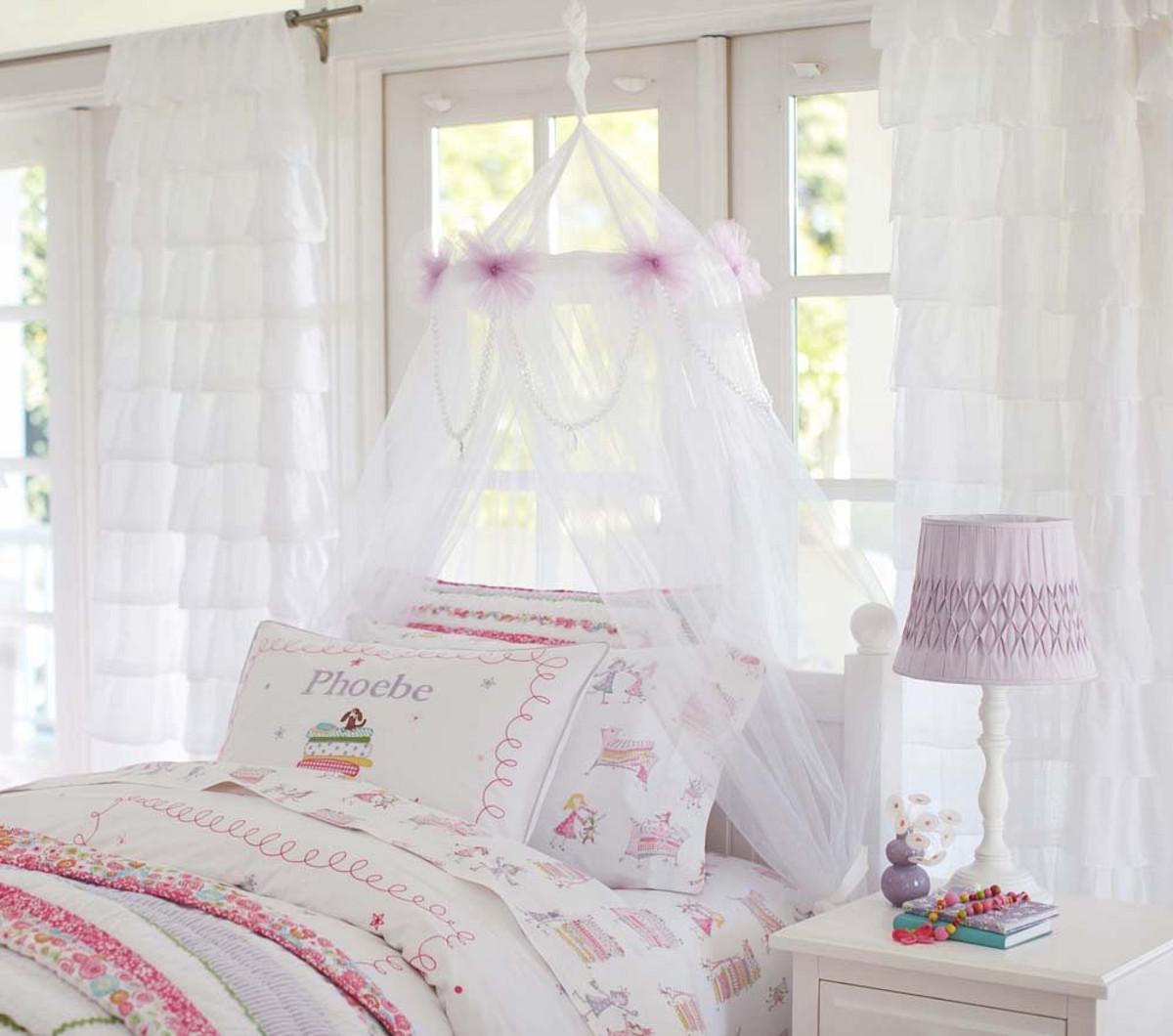 Тюль в детской спальне