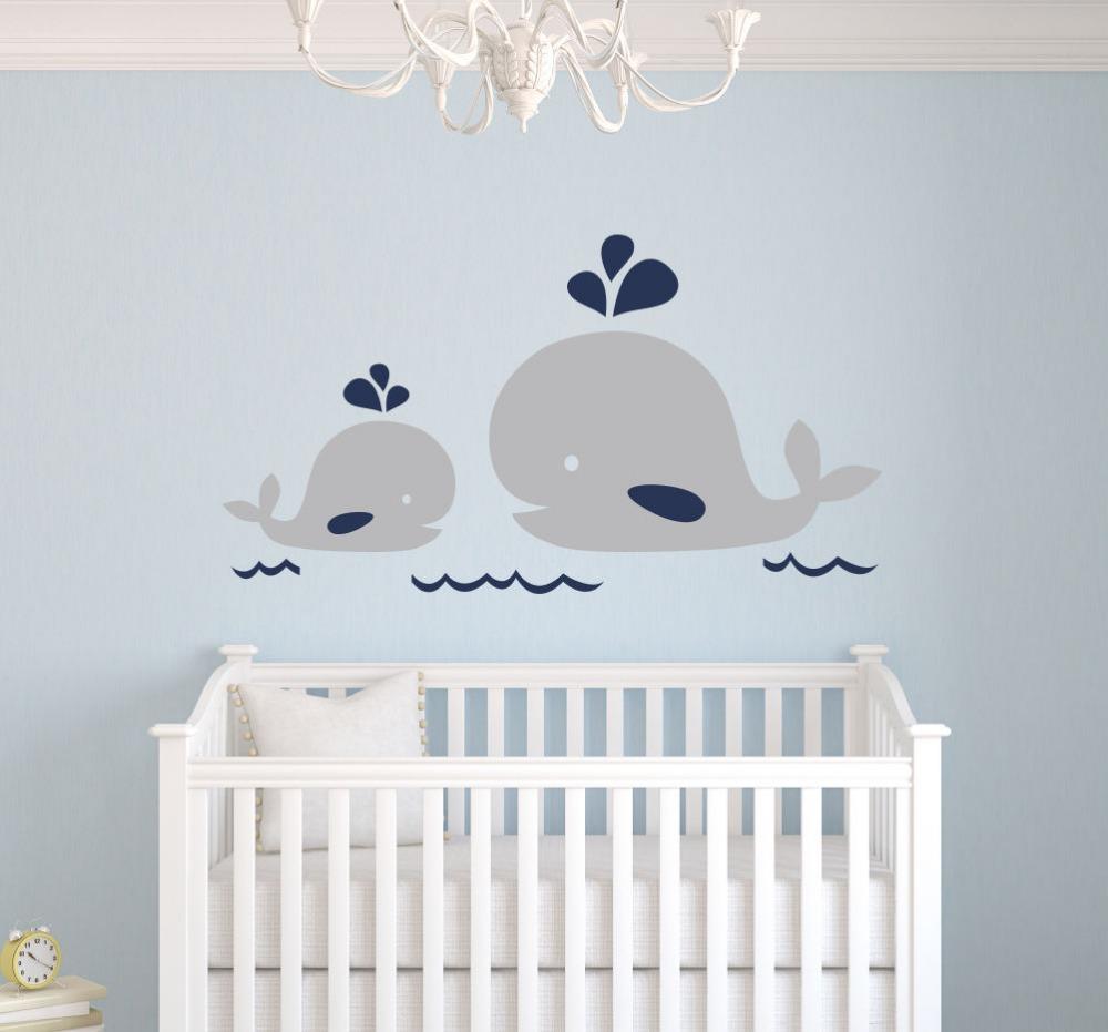 Морской декор на стене детской