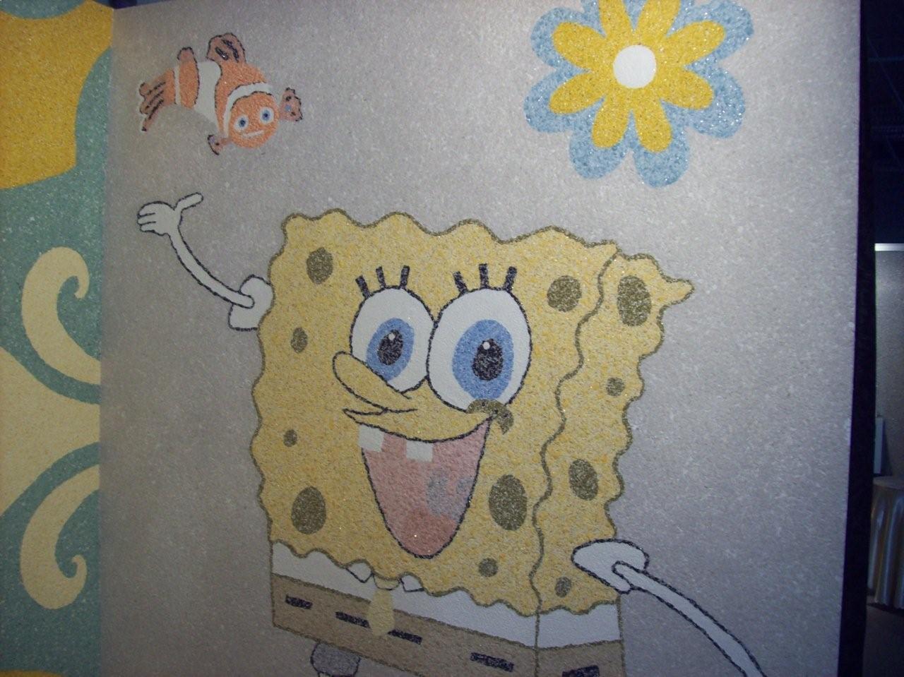 Детский рисунок на жидких обоях