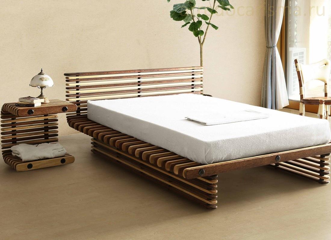 Дизайнерская кровать из массива дерева