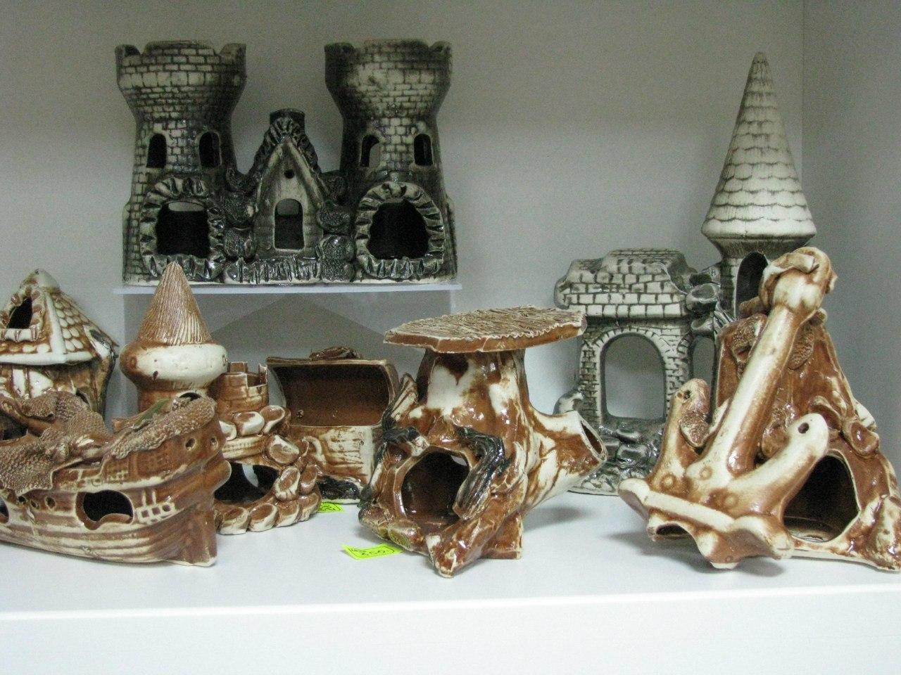 Декоративные домики для аквариума
