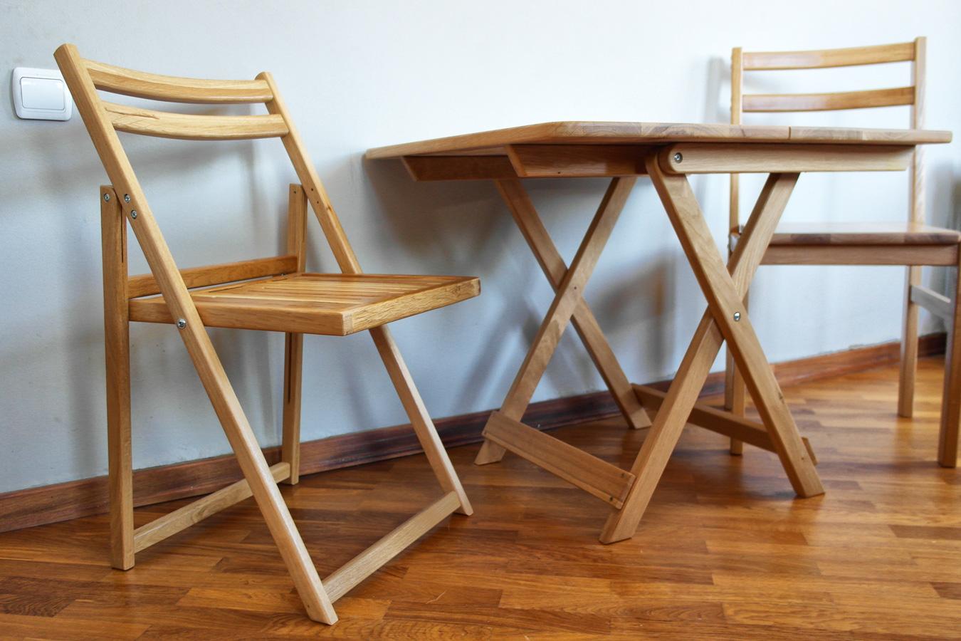 Складные стулья из дуба