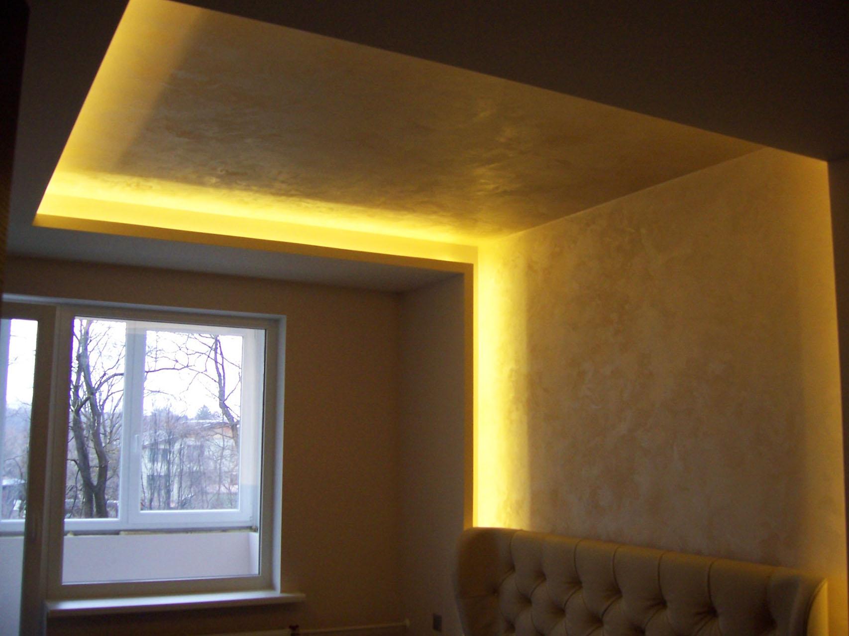 Светодиодная подсветка двухуровнего потолка