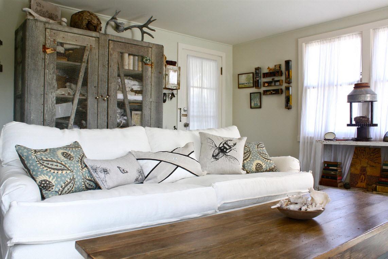 Диванные подушки в стиле эко