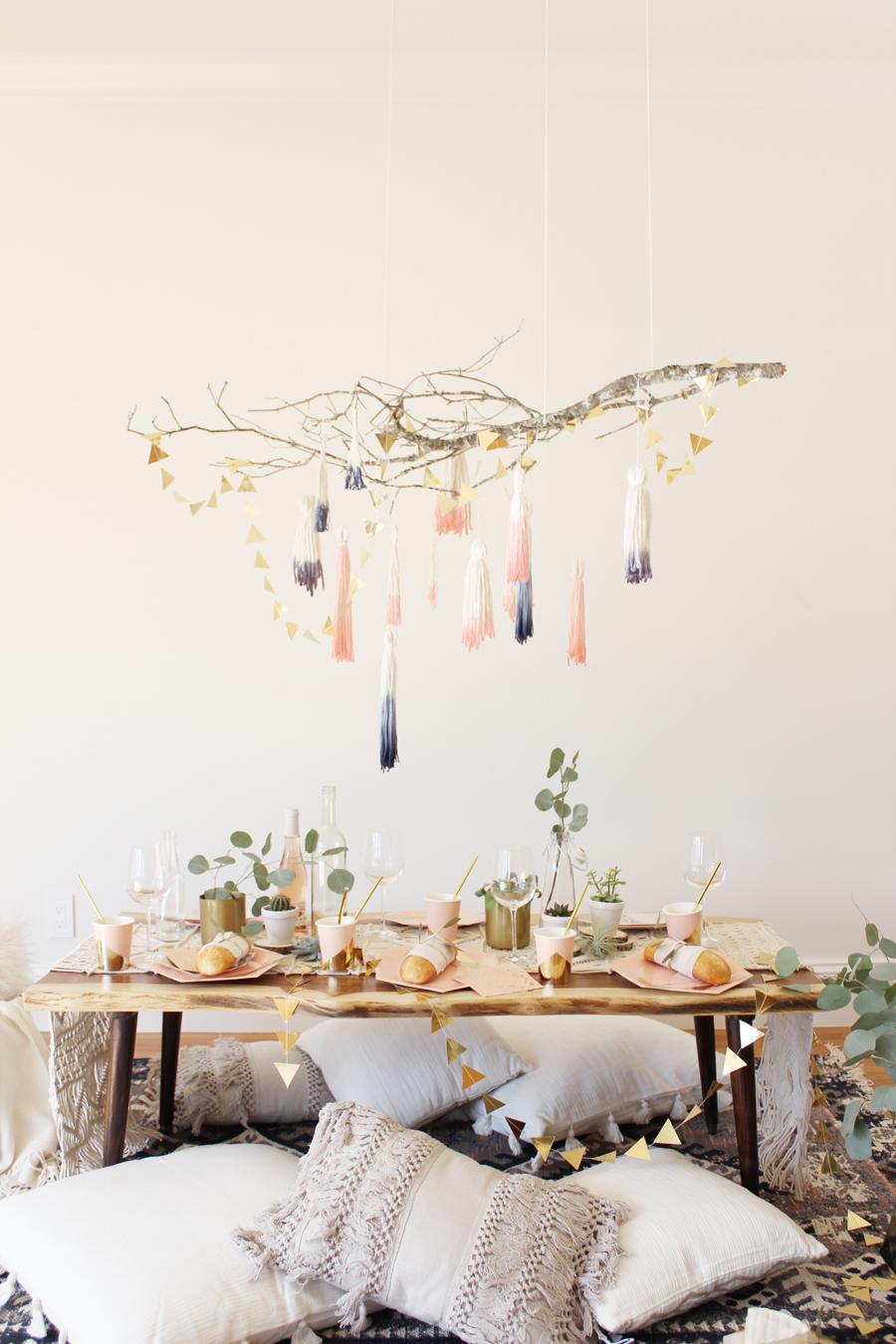 Декор люстры в стиле эко