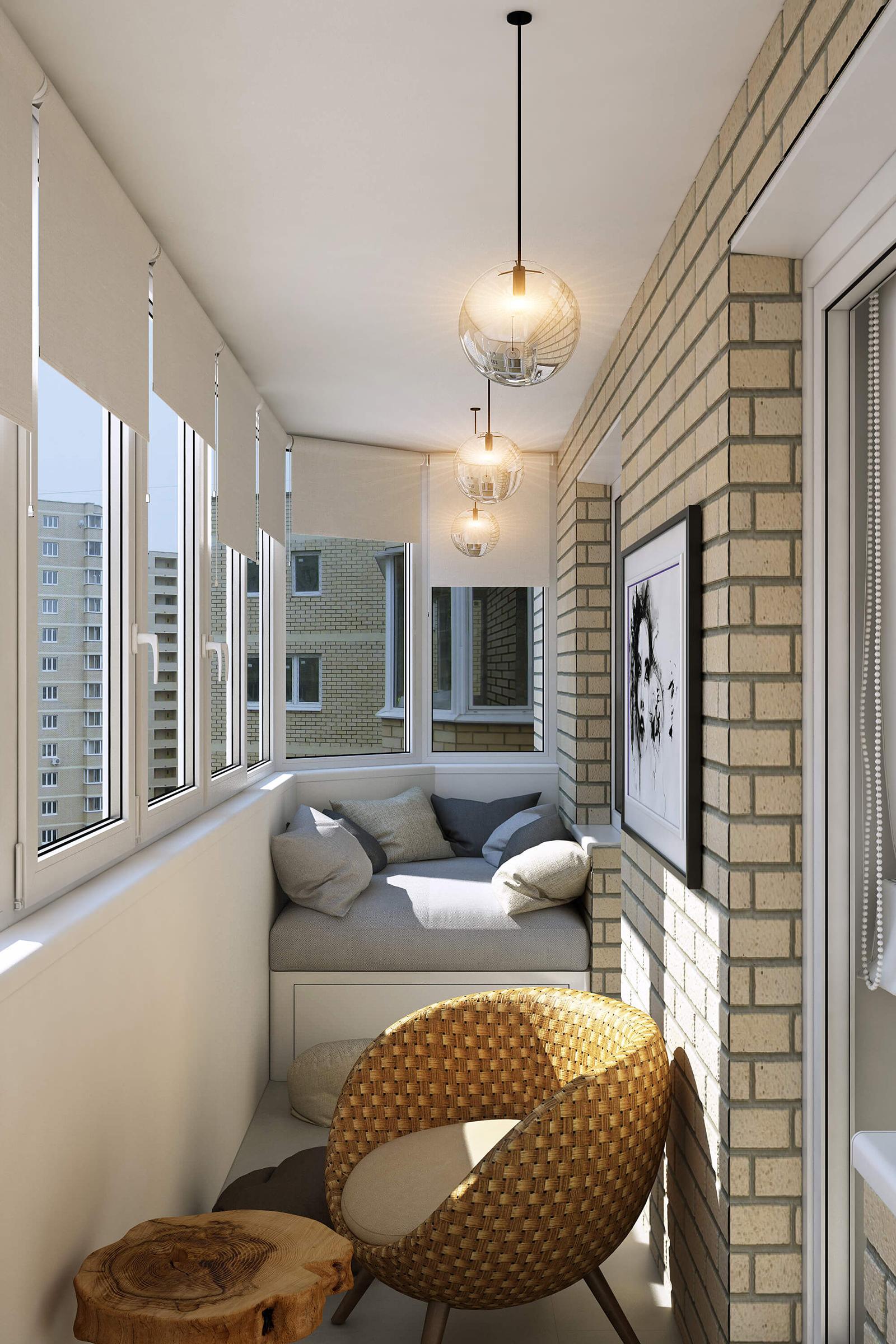 Балконная мебель в стиле эко