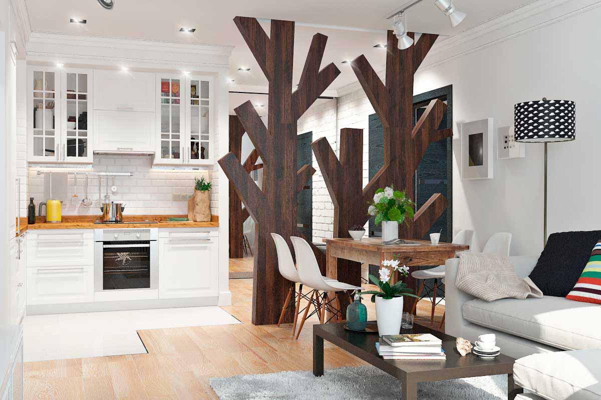 Экологичный дизайн двухкомнатной квартиры