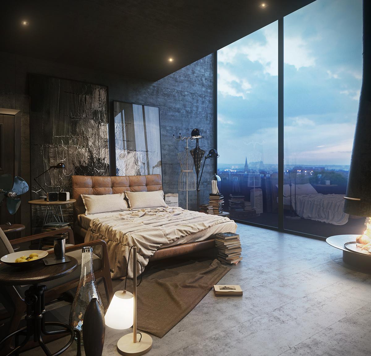 Элементы стиля гранж в спальне