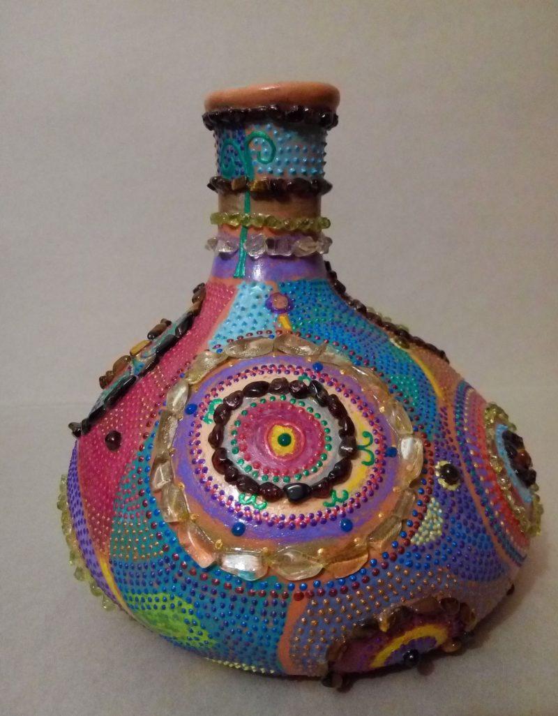 Этнический декор вазы
