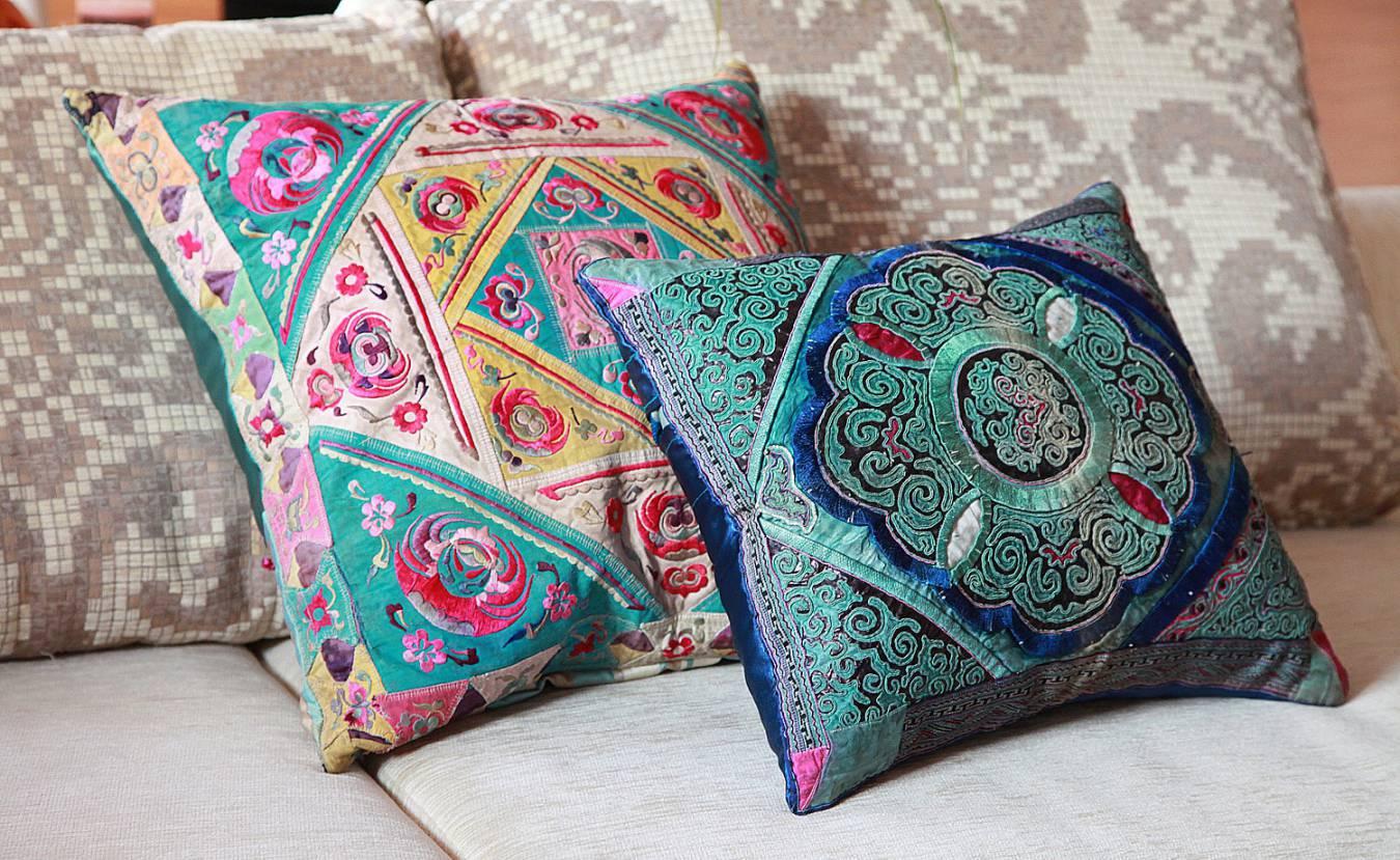 Декоративные подушки в этническом стиле