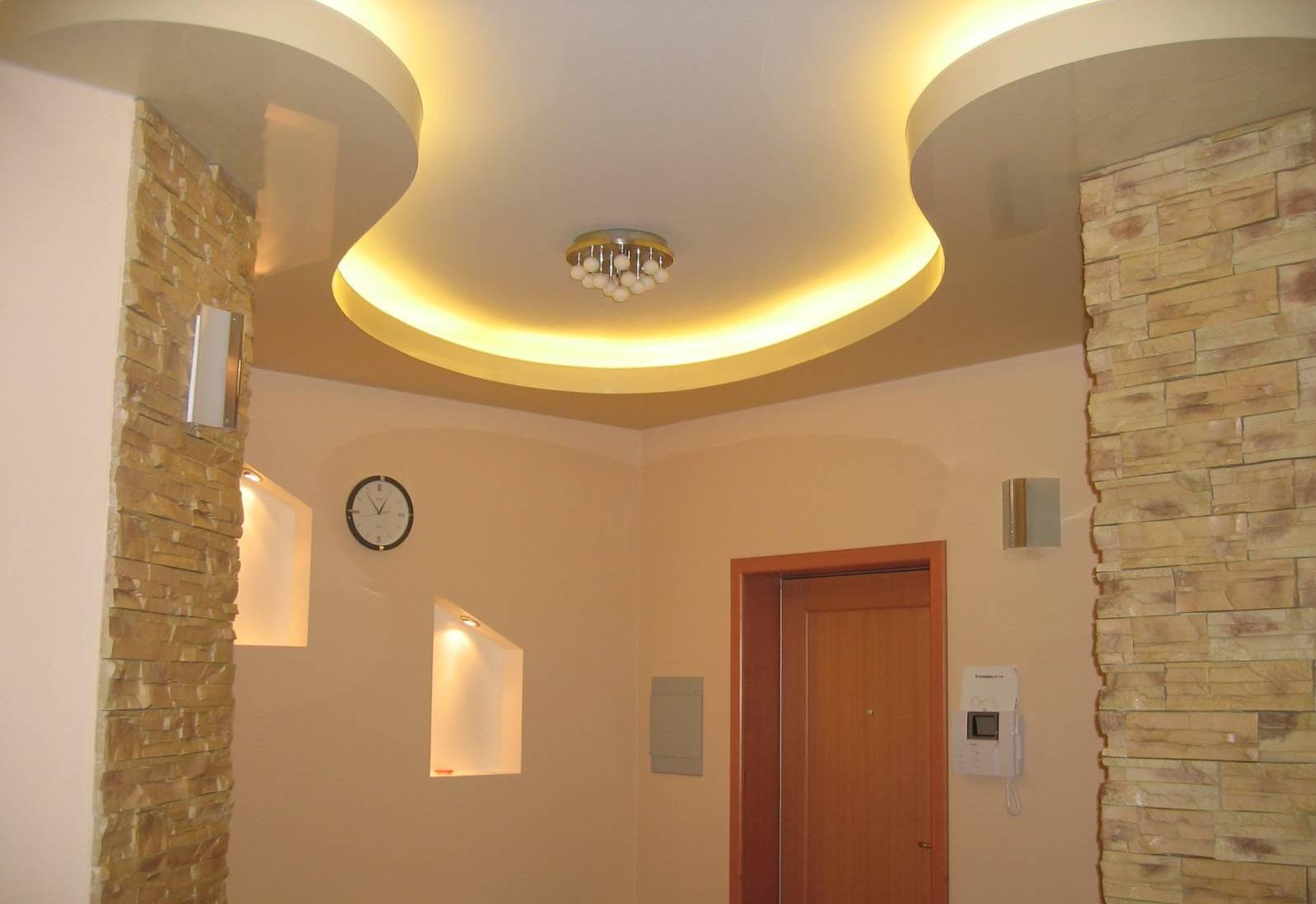Светодиодная подсветка фигурного потолка