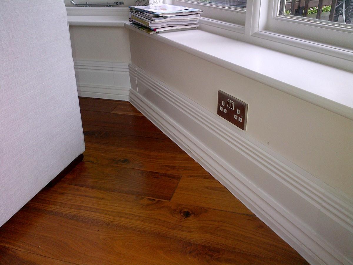 Фигурный деревянный плинтус