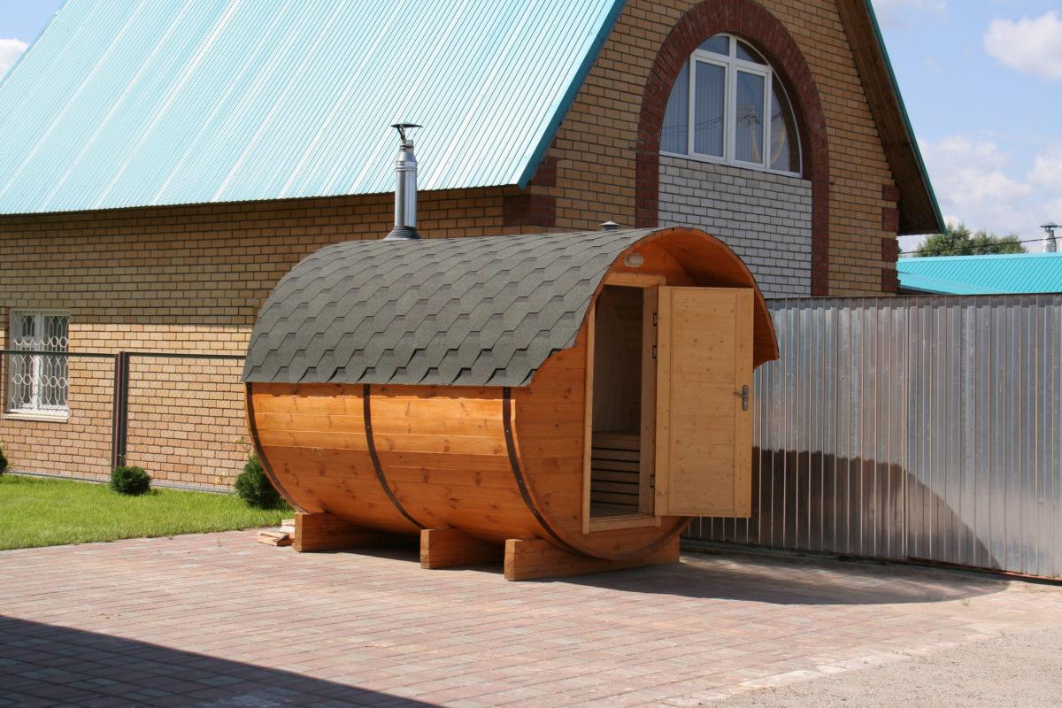 Финская баня-бочка