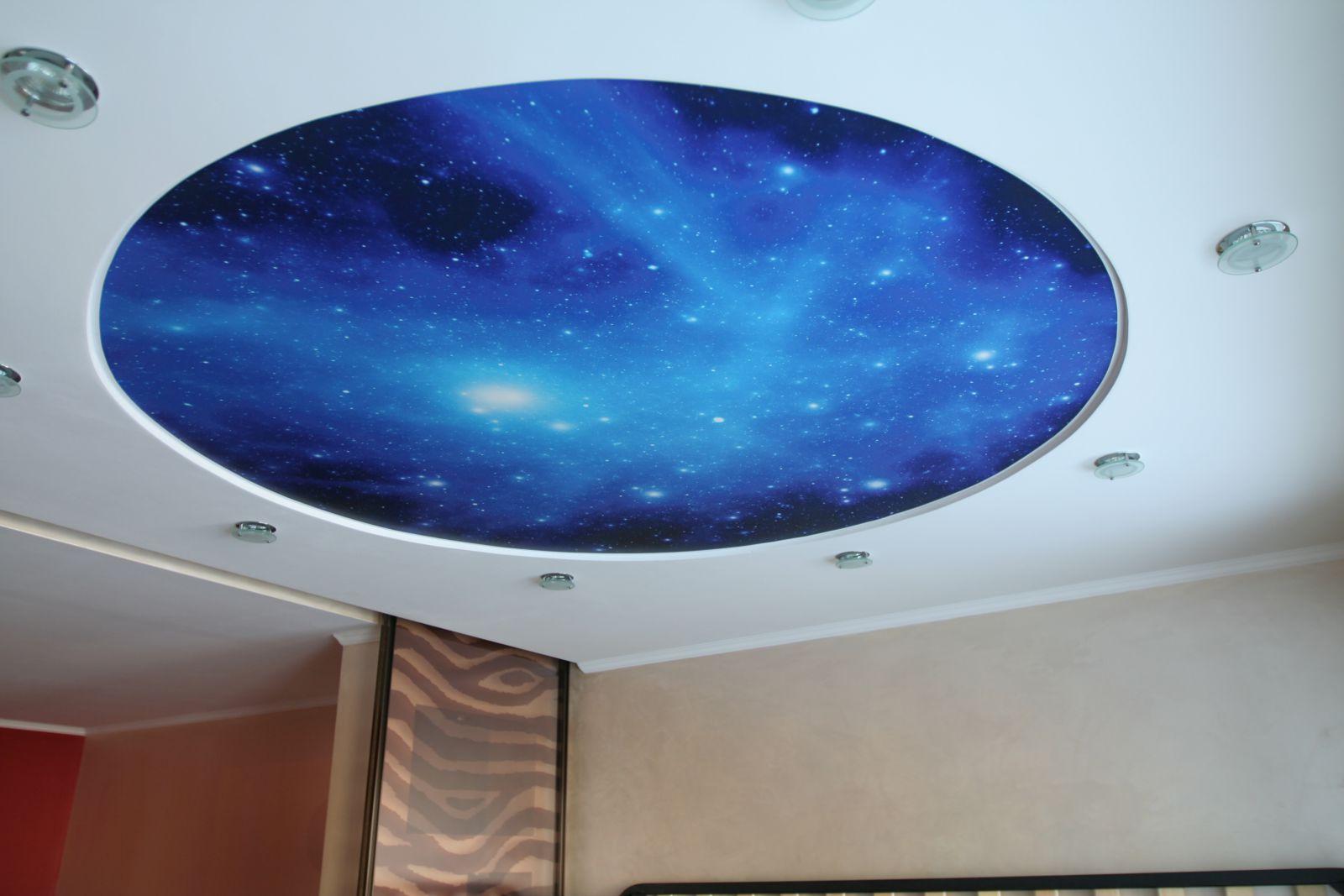 """Потолок """"звездное небо"""" с фотопечатью"""