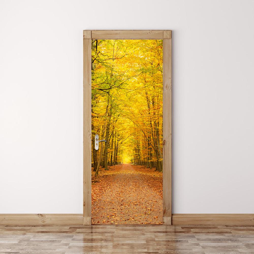 Декор двери фотообоями