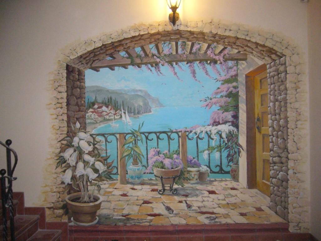 Фреска в интерьере квартиры