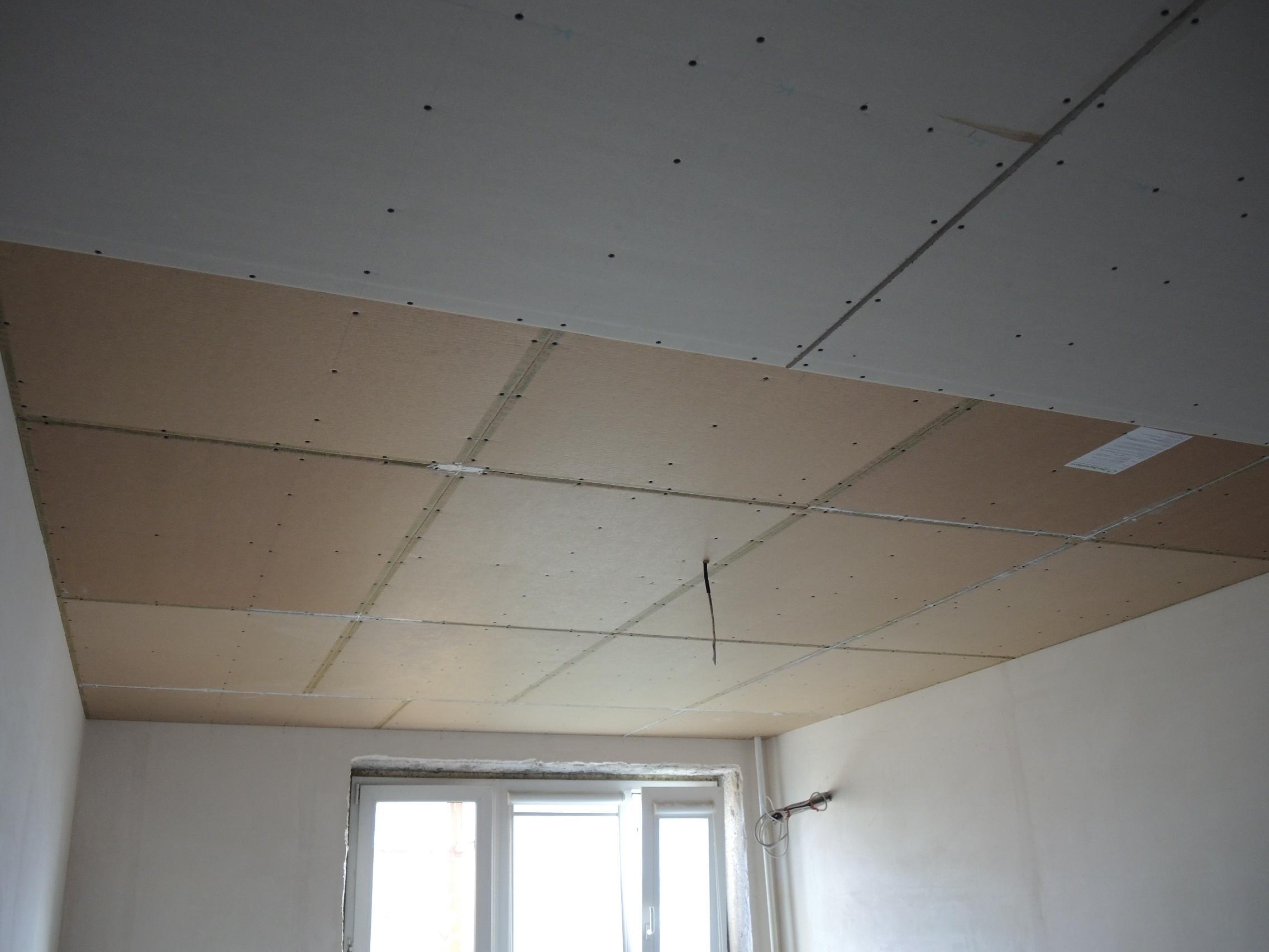 Шумоизоляция потолка гипсокартоном