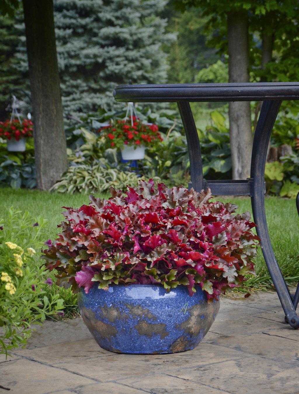 Глянцевый вазон для цветов