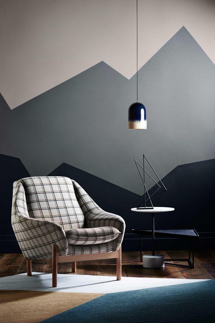 Рисунок гор на стене