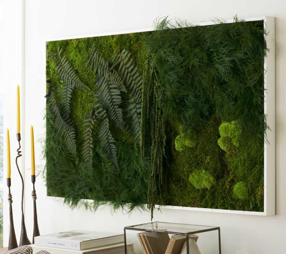 Вертикальное озеленение в интерьере гостиной