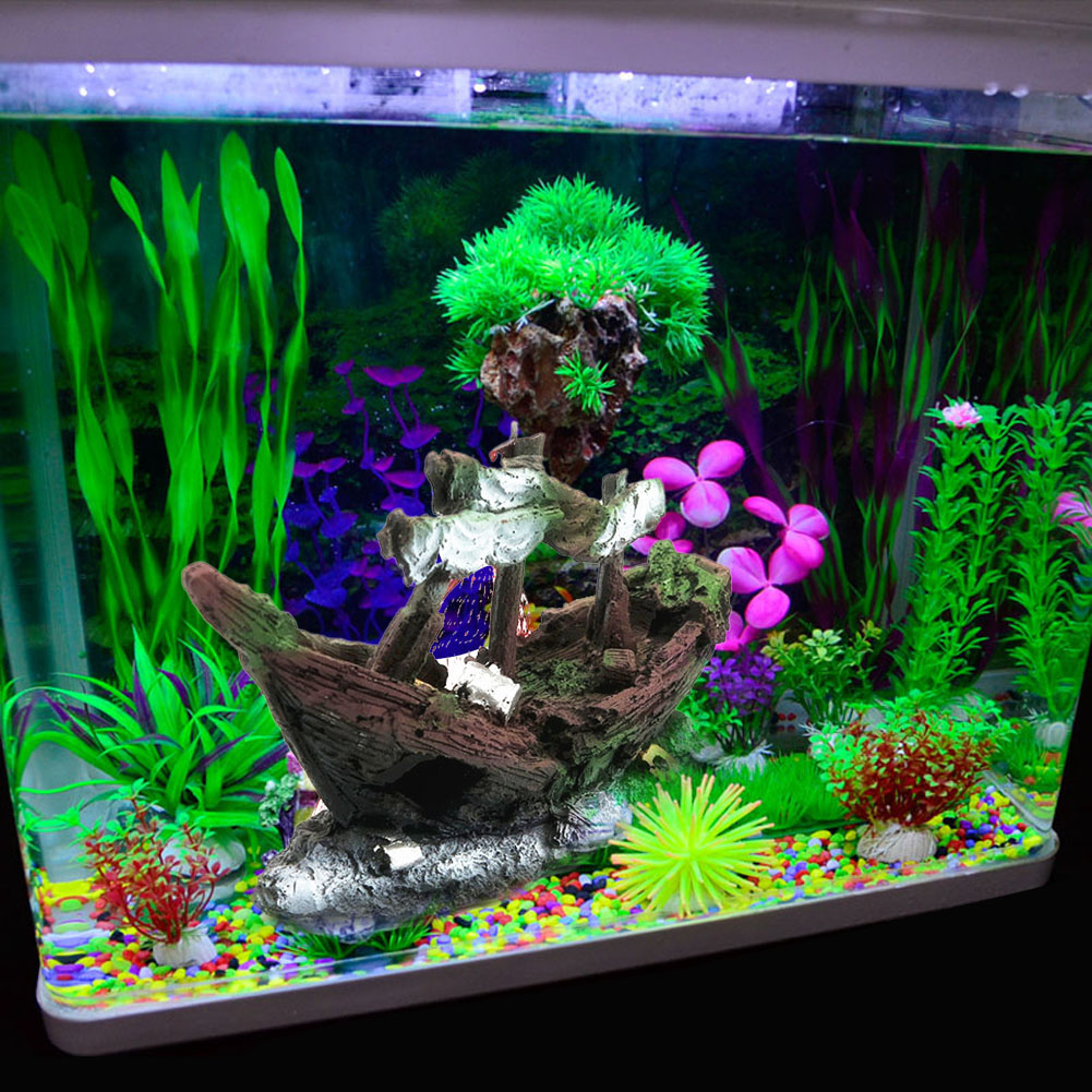 Декор для аквариума грот в виде корабля