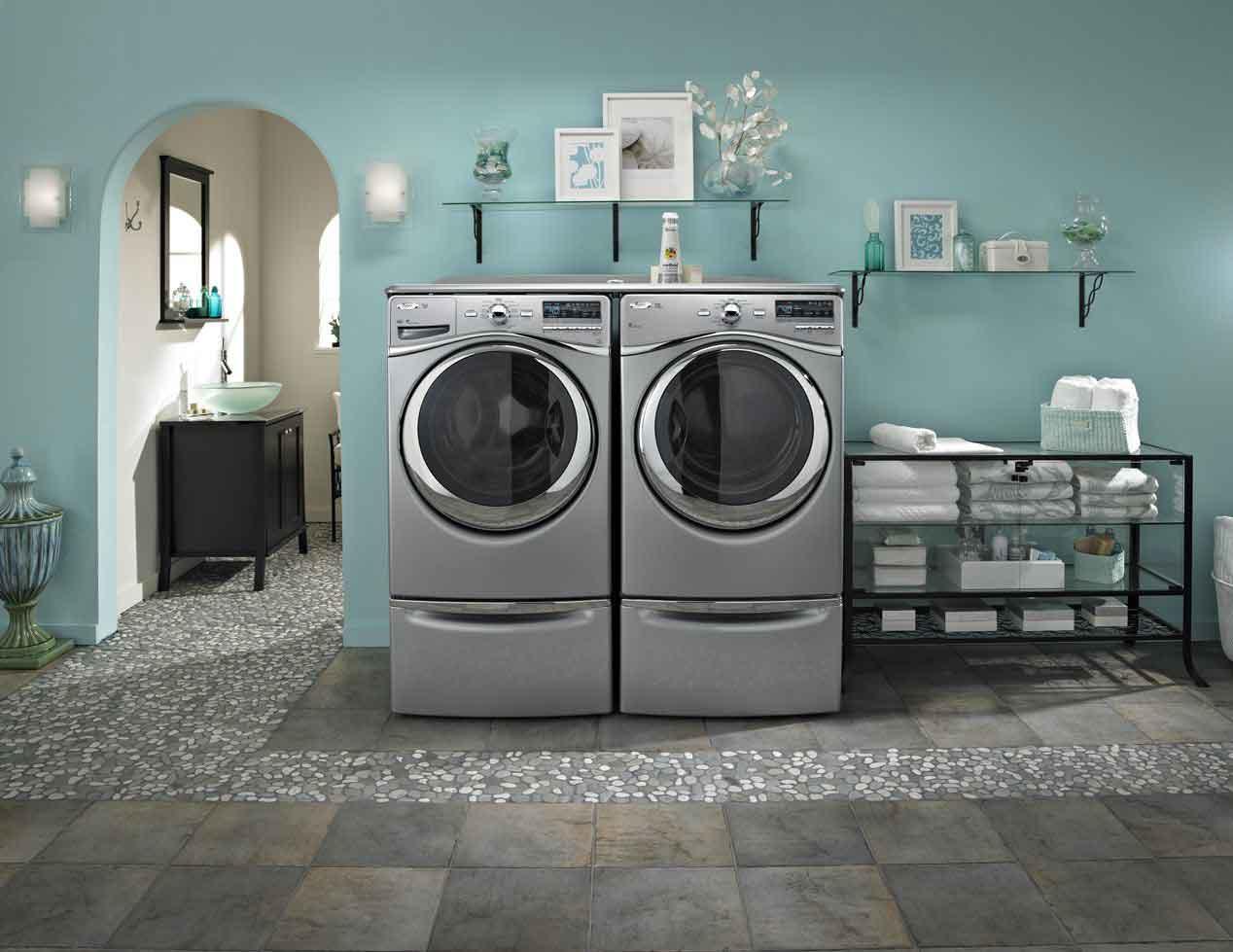 Хромированная стиральная машина