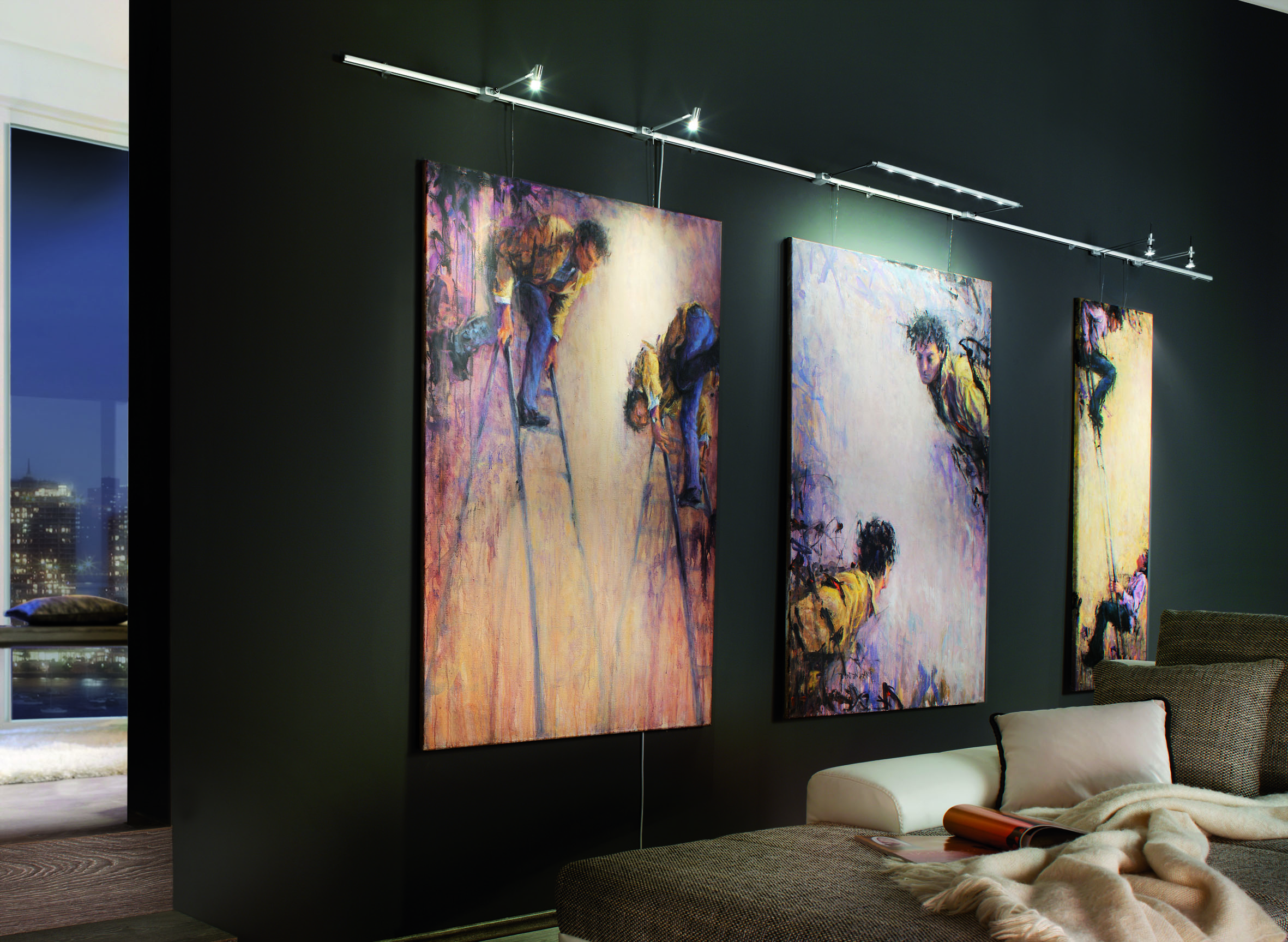 Подсветка для картин в интерьере