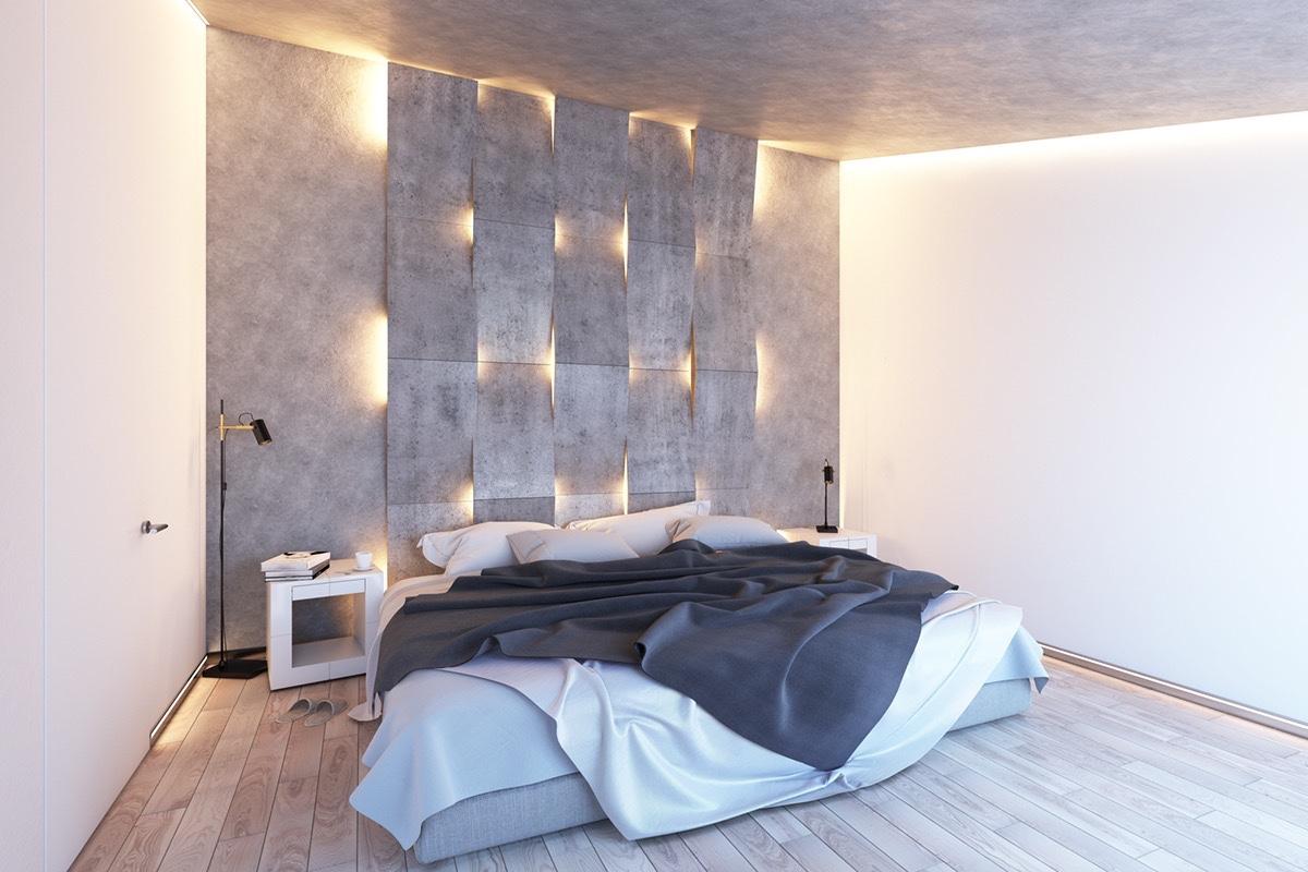 Подсветка изголовья в спальне