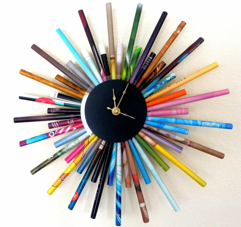 Декор часов карандашами