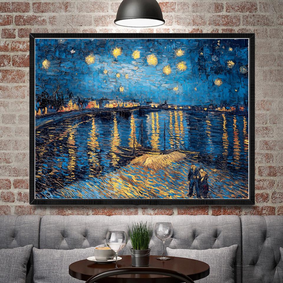 Картина Ван Гога в интерьере