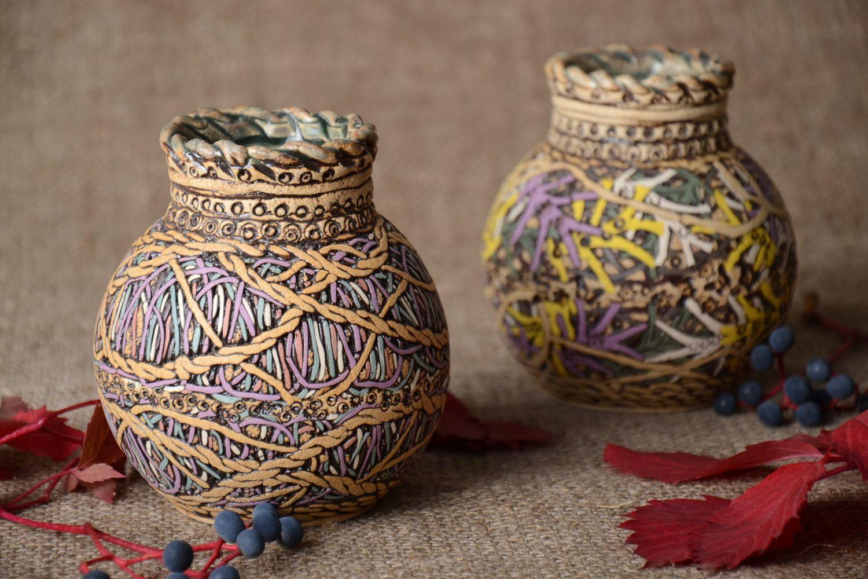 Декор керамической вазы