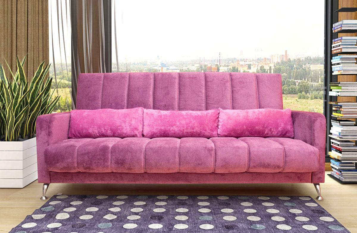 Розовый диван-еврокнижка