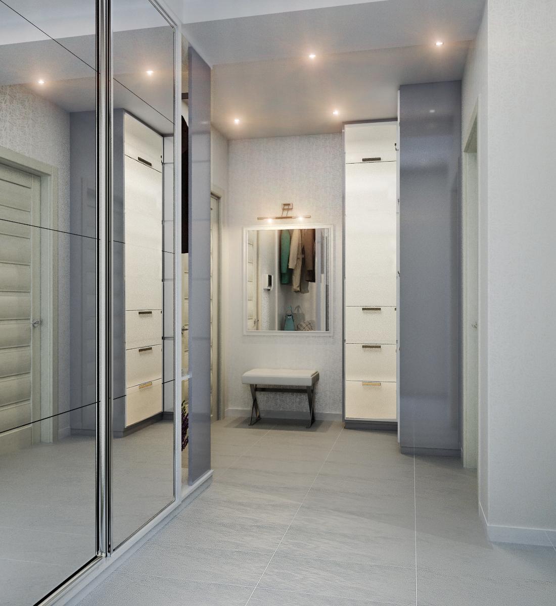 Зеркала напротив друг друга в коридоре