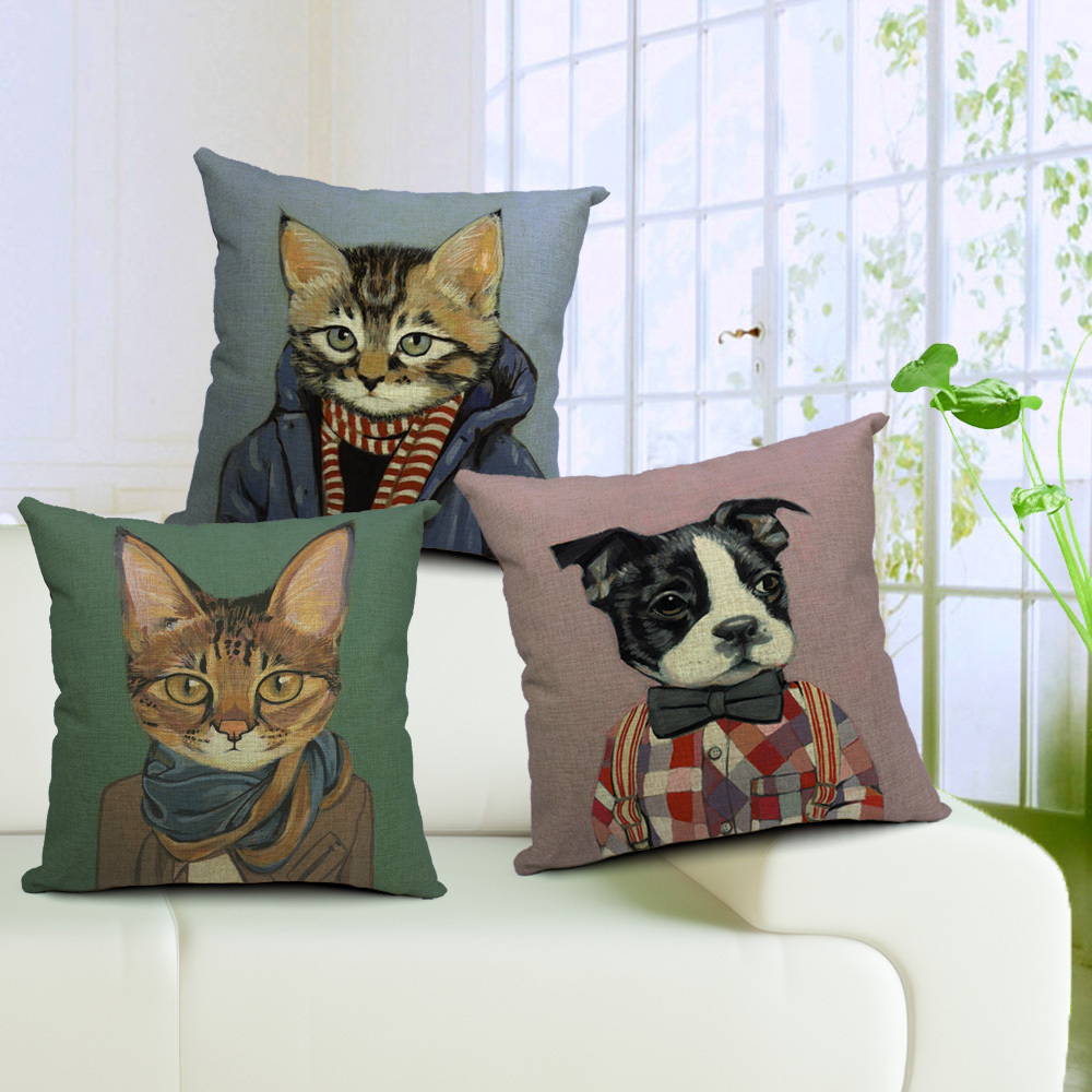Рисунок кота на подушке