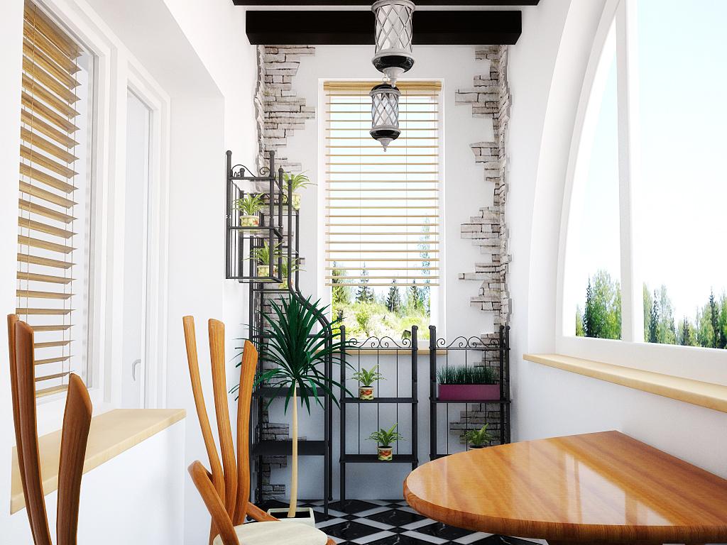 Кованая мебель на балконе