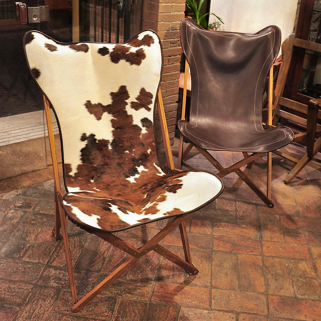 Складные стулья из кожи