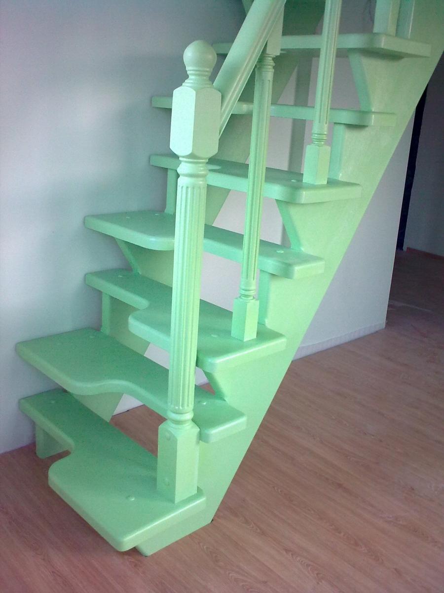 """Крашеная лестница """"гусиный шаг"""""""
