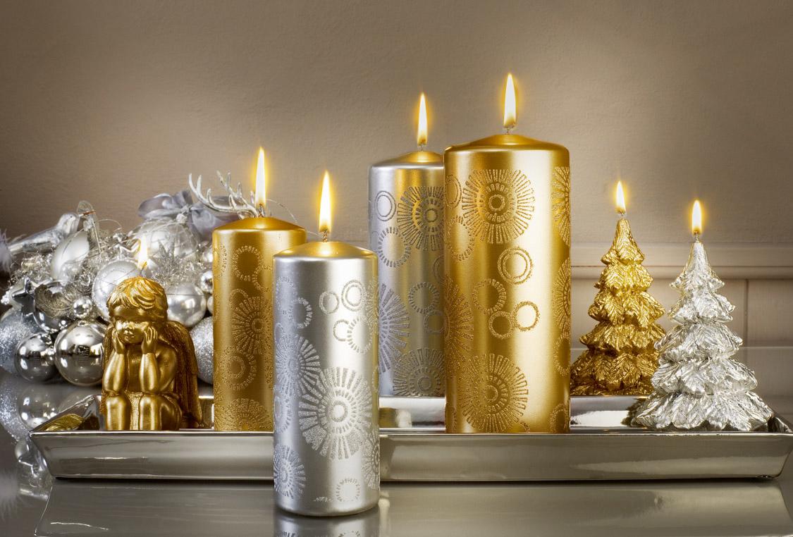 Декор свечи краской