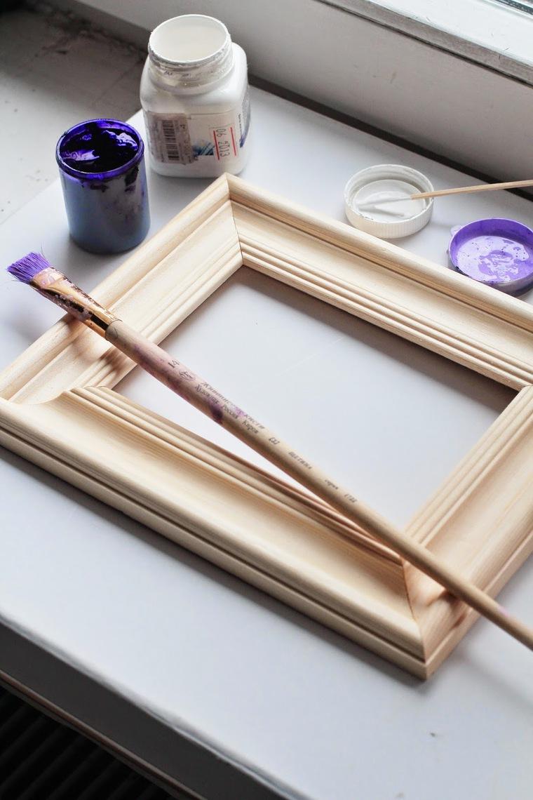Декор рамки краской