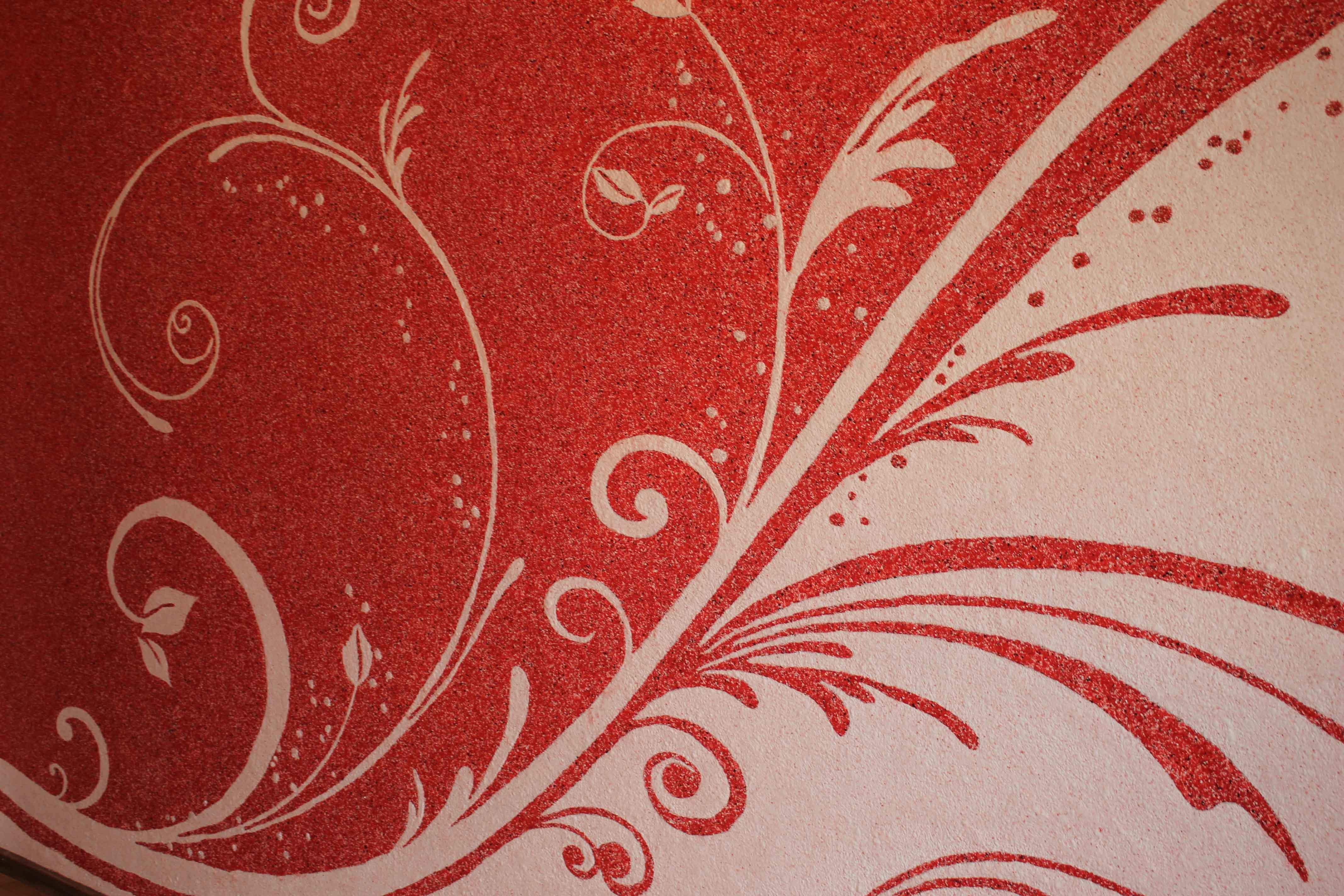 Рисунки жидкими обоями красными