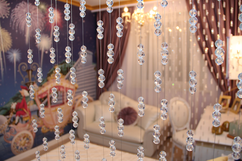 Штора из бусин-кристаллов