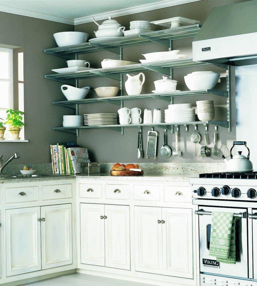 Полки для посуды на кронштейнах