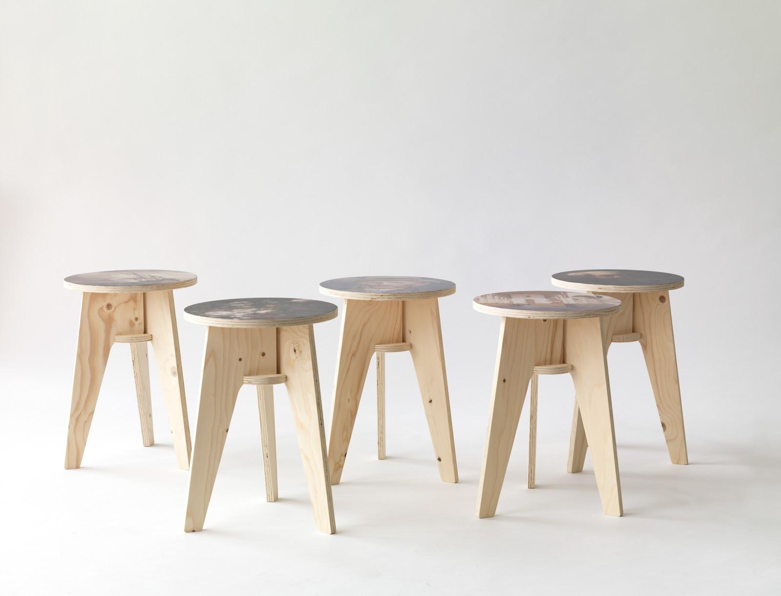 Табурет в круглом дизайне